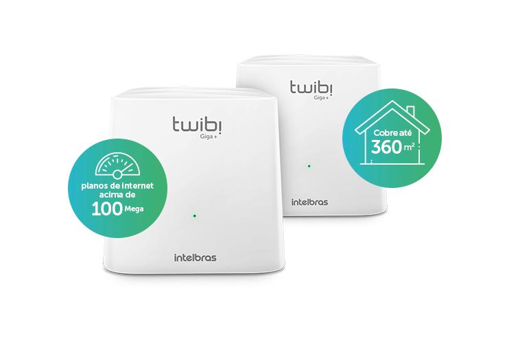 Twibi Giga+Roteador Wi-Fi 5 Mesh Intelbras
